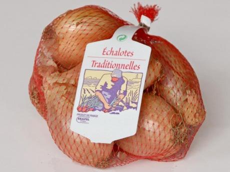 photo filet échalote avec logo échalote traditionnelle